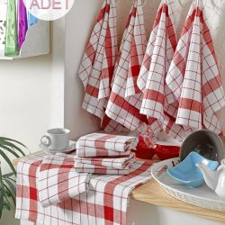 Wash Towel Cisil Set of 10 | Red