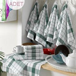 Waschhandtuch Cizgili 10er-Set | Weiß & Grün