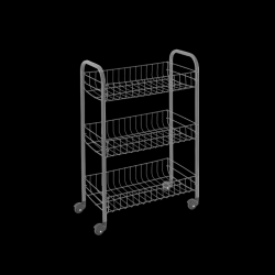 Kitchen Trolley Siena | Silver