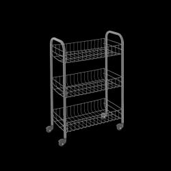 Küchenwagen Siena | Silber