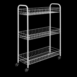 Kitchen Trolley Slim | Silver