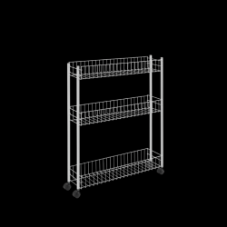 Kitchen Trolley Extra Slim | White