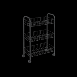 Kitchen Trolley Lugano | Black
