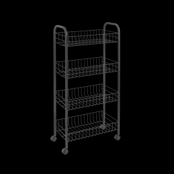 Kitchen Trolley Ascona | Black