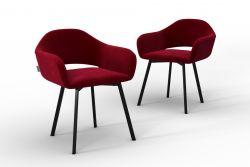 Set Of 2 Chairs Oldenburg | Red-Velvet Touch
