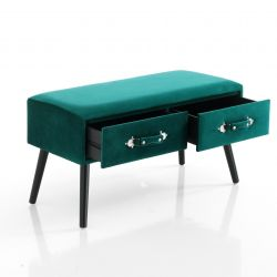 Bench with Drawers | Green