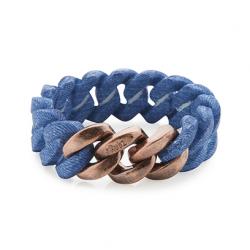 Classic Bracelet 20 mm | Jeans Print & Soft Gold