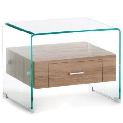 Bedside Table Noa | Glass