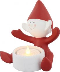 Deco Led Tea Light | Christmas Elf Happy