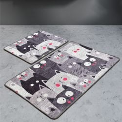 Bath Mat Set of 2 | Meow