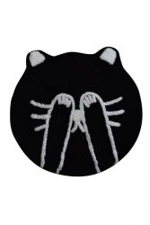 Bath Mat Shy Cat | Black