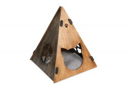 Cat House Tent | Walnut/Black