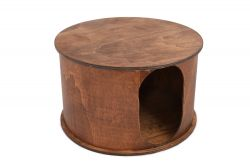 Cat House Round | Walnut