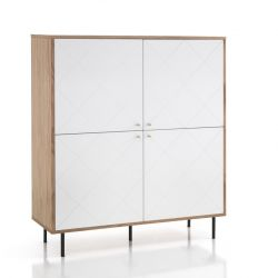 Hoge Kast Diamond | Wit