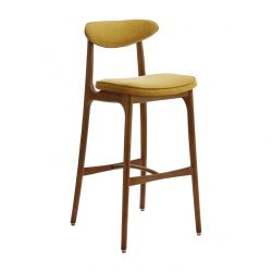 Bar Stool 200-190 M | Shine Velvet Mustard Yellow