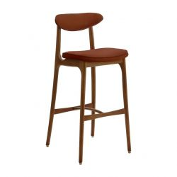 Tabouret de bar 200-190 M | Velours Rouge Brique