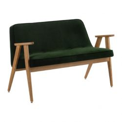 Sofa 366 | Natural Oak & Velvet Green