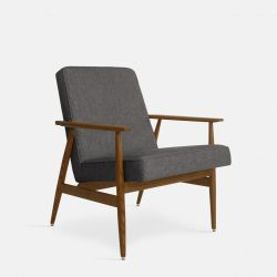 Armchair Fox Loft | Dark Wood 03 & Grey