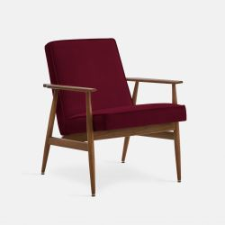 Armchair Fox Velvet | Dark Wood 03 & Merlot
