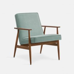 Armchair Fox Velvet | Dark Wood 03 & Mint