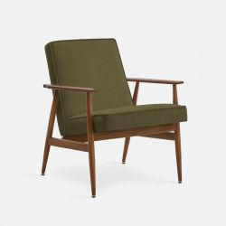 Armchair Fox Velvet | Dark Wood 03 & Olive Green