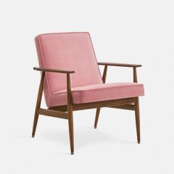 Armchair Fox Velvet | Dark Wood 03 & Powder Pink