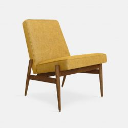Armchair without Armrest Fox Loft | Dark Wood 03 & Mustard