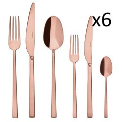 Cutlery Set of 36 Pieces Rock | Stainless Steel Copper