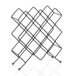 Wine Rack Diagonal for 13 Bottles | Black
