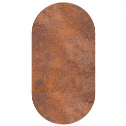 Magnetic Sticker Ferro Oval | Rusty Brown
