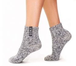 Frauensocken Medium Niedrig | Jet Black