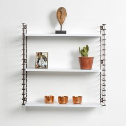 Book Shelf | Bronze & White