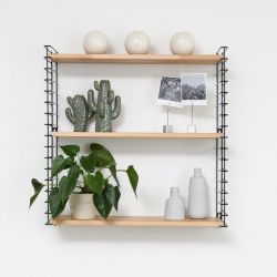 Book Shelf | Black & Wood