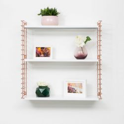 Book Shelf | Copper & White