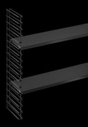 Extensie Wandrek (1 Frame & 2 Planken ) | Zwart