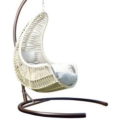 Outdoor Single Swing Chair | Cream
