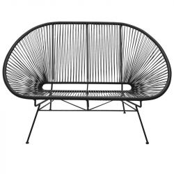 Acapulco Lounge Bench | Black