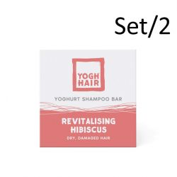Set of 2 Natural Yoghurt Shampoo Bars | Revitalising Hibiscus | Pink