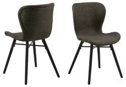 Set de 2 Chaises Matilda-A1 | Kaki & Noir