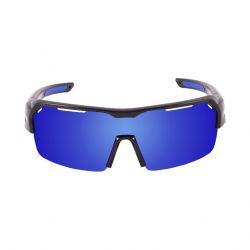 Fahrradbrille Race | Matt-Schwarzer Rahmen / Blaue Revo Linsen
