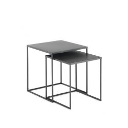 Set of 2 Coffee Tables Thin | Anthracite