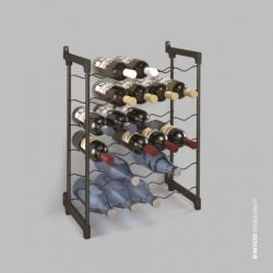 Bottle Rack Rose | 30 Bottles