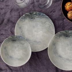Porzellan-Geschirrset | 24 Teile | Mehrfarbig