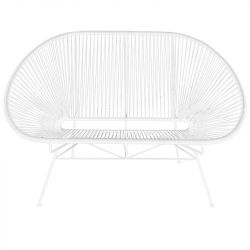 Acapulco Lounge Bench | White