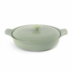 Covered Skillet Cast Iron | Green