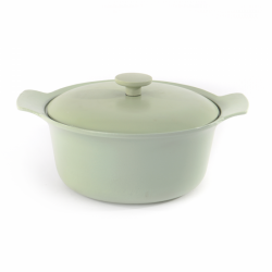 Covered Casserole Cast Iron | Green