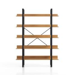 Bücherregal Cukin 170 | Schwarz & Helles Holz