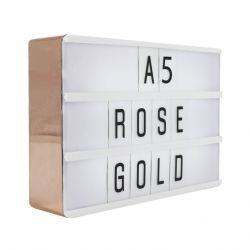 Lightbox A5 | Rosé Goud