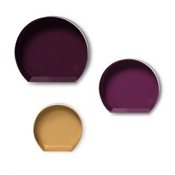 Wall Shelf Set Triana 222 | Plum-Gold