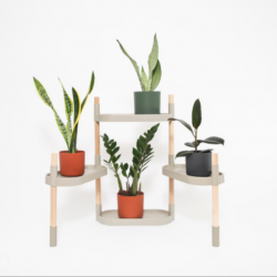 Recycled Plant stand with trays | Grey